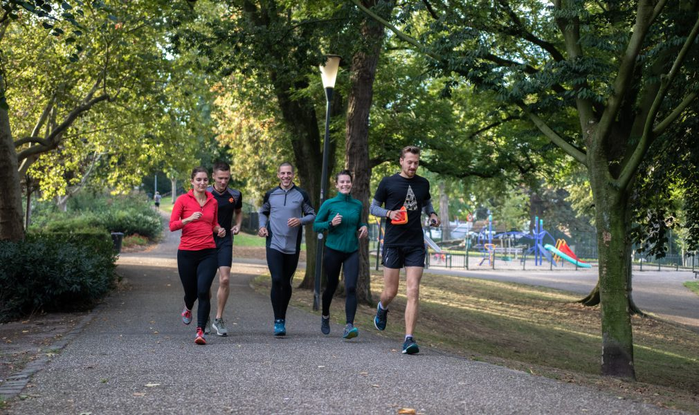 Outdoor group running